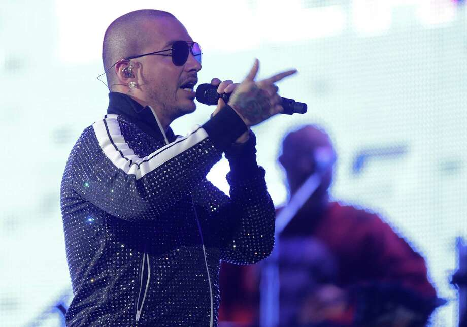 J Balvin performs during the 2018 Houston Livestock Show and Rodeo at NRG Stadium on  Tuesday, March 13, 2018, in Houston. Photo: Elizabeth Conley, Houston Chronicle / © 2018 Houston Chronicle