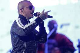 J Balvin performs during the 2018 Houston Livestock Show and Rodeo at NRG Stadium on  Tuesday, March 13, 2018, in Houston.