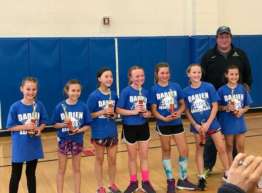 The Darien fourth grade house champion Blue Devils fromt left to right: Jane Slonieski, Sofia Coppola, Ella Goodrich, Julianne White, Brooke Byczek, Elise Hole, Sydney Johnson and coach Michael White. Missing from photo Kitty Drugge. Photo: Contributed Photo / Darien News contributed