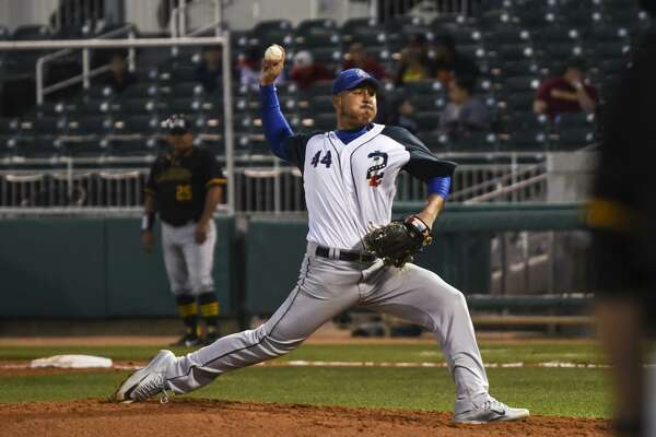 Former United pitcher Julio Rodriguez is one of six players for the Tecolotes Dos Laredos that had a tie to Laredo during Spring Training. He threw four scoreless innings without a hit in an exhibition against LCC.