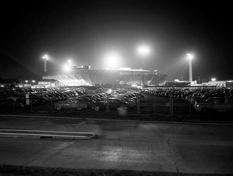 Buff Stadium grounds, 1950s. Photo: Staff, Houston Post