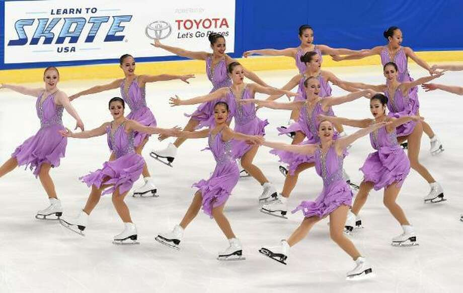 The Skyliners perform at the Synchronized Skating Championships in Portland, Or. Photo: Contributed Photo / Darien News contributed