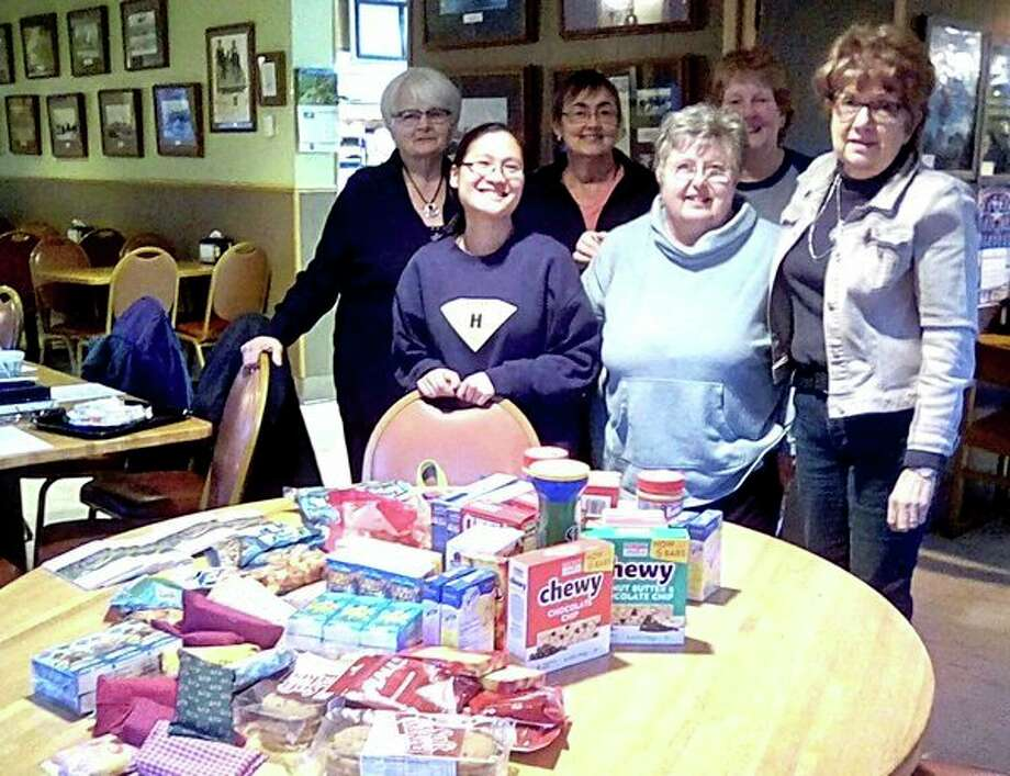 The Woman's Life 912 Bad Axe group recently donated items and shipping costs for packages that will be sent to troops. Donations were received by Blue Star Mothers Thumb Chapter 178. (Submitted photo)