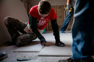 About 580 students headed to homes throughout the Houston area that were effected by Hurricane Harvey to help homeowners rebuild their homes during spring break thanks to volunteering program  BOUNCE Student Disaster Recovery with Texas Baptist churches.