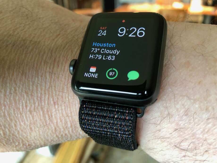 A third-party nylon loop watchband for Apple Watch. Photo: Dwight Silverman / Houston Chronicle