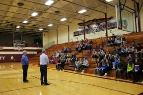 More than 80 students at Cass City Jr/Sr High School walked out of their classrooms at 8:05 a.m. Wednesday and into the gym for 17 minutes to remember 17 students killed last month at Marjory Stoneman Douglas High School in Parkland, Florida. School officials used the walkout as an opportunity for students and administration to talk about keeping students safe in school.