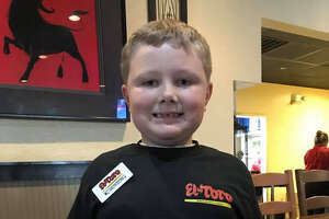 A waiter of the El Toro in Clute made 7-year-old Jackson Nesbitt's dream of becoming a waiter come true with an entire uniform for the Tex-Mex restaurant's staff.