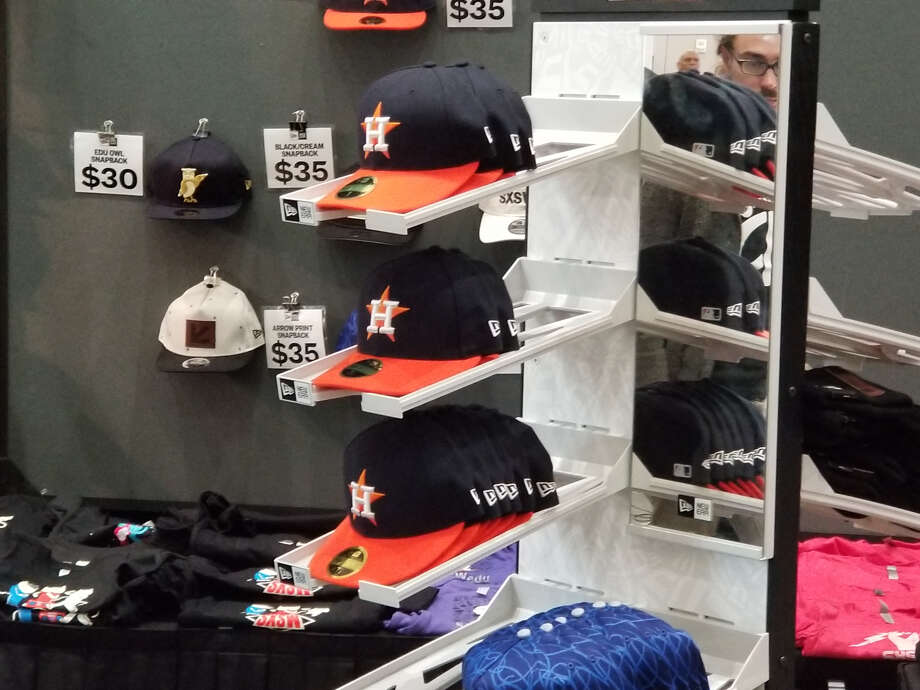 Among the things selling at SXSW, Houston Astros gear.