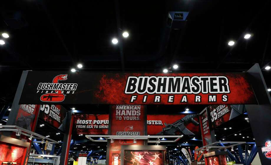 Signage for Bushmaster, which was bought by Cerberus Capital Management, at the 2013 National Rifle Association Annual Meetings & Exhibits at the George R. Brown Convention Center in Houston, Texas, on May 4, 2013. Photo: Aaron M. Sprecher/Bloomberg / Bloomberg