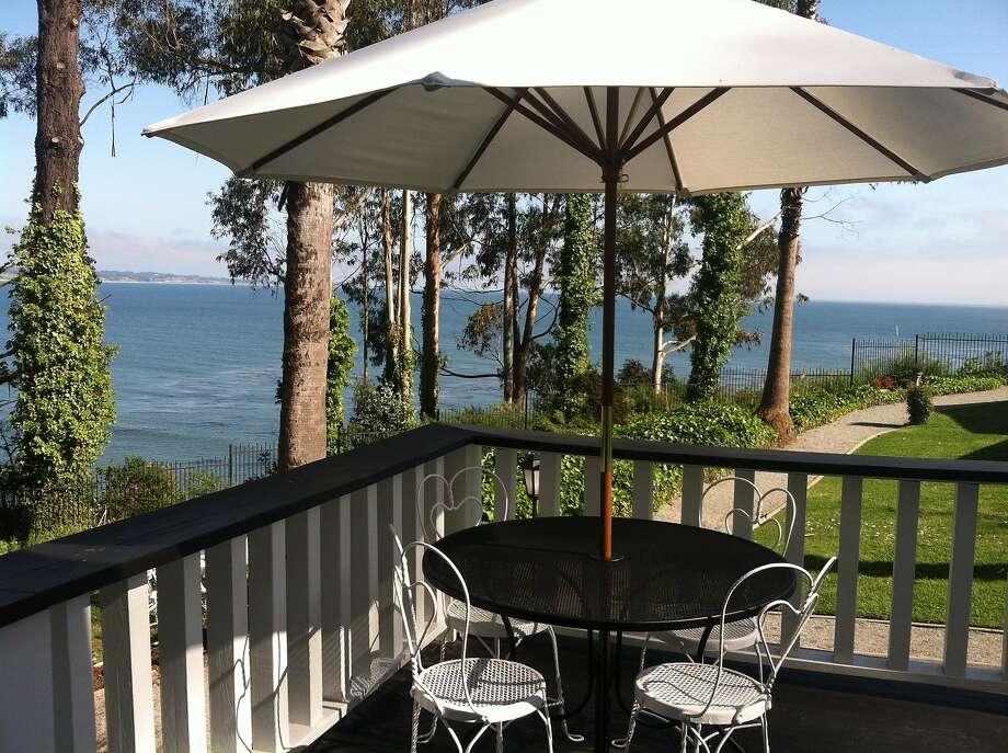 The view from a deck at Monarch Cove Inn. Photo: Courtesy Monarch Cove Inn /