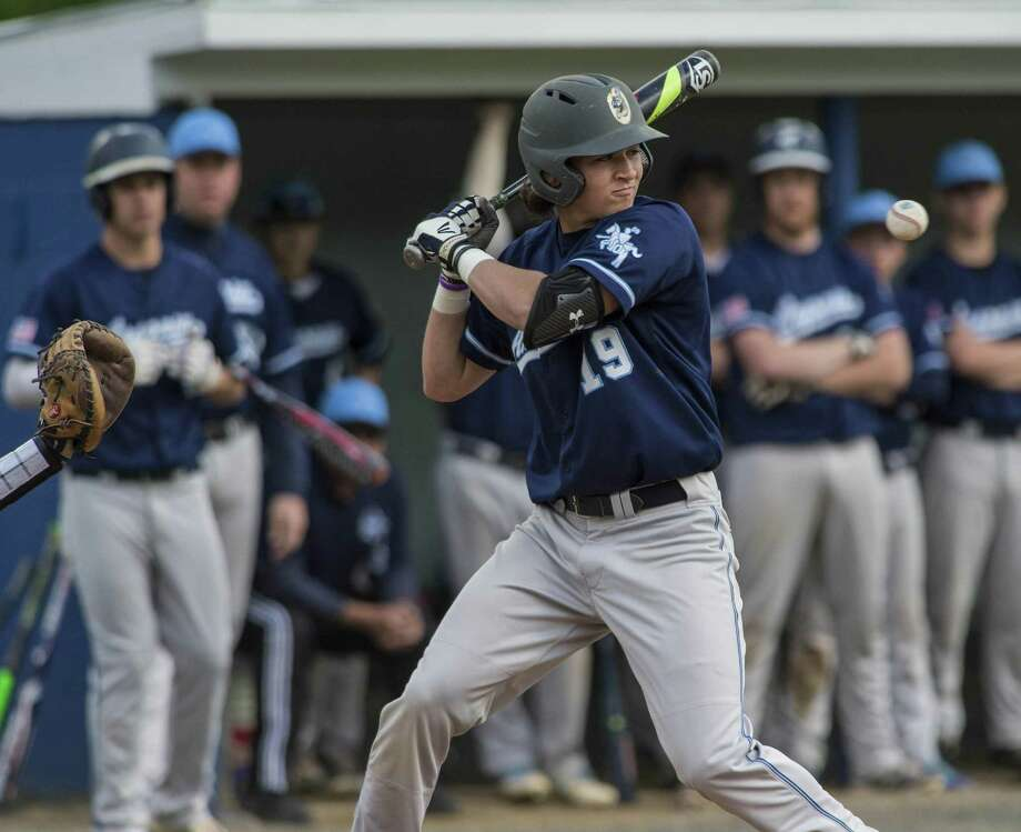 Ansonia High School players during a baseball game played at Nolan Field, Ansonia, Cpnn. May 10, 2017. Photo: Mark Conrad / For Hearst Connecticut Media / Connecticut Post Freelance
