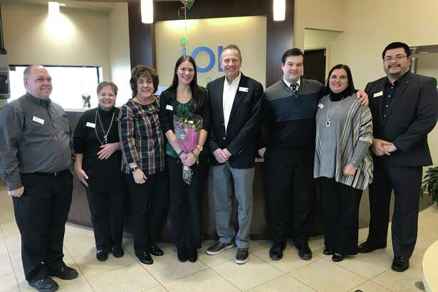 From left, Ion Bank employees Craig Wallace, VP, Infrastructure Operations; Marcia Arndt, VP, Branch Operations; Kathy McPadden, EVP, Chief Human Resources Officer; Amanda Scott, Personal Banker - Wallingford; Charles Boulier, CEO; Justin Bush, Personal Banker Naugatuck; Sorrina Salvatore, Business Development Officer; Jeffrey Hernandez, Branch Manager, Wallingford.
