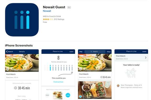 Nowait is available for iOS and Android devices.