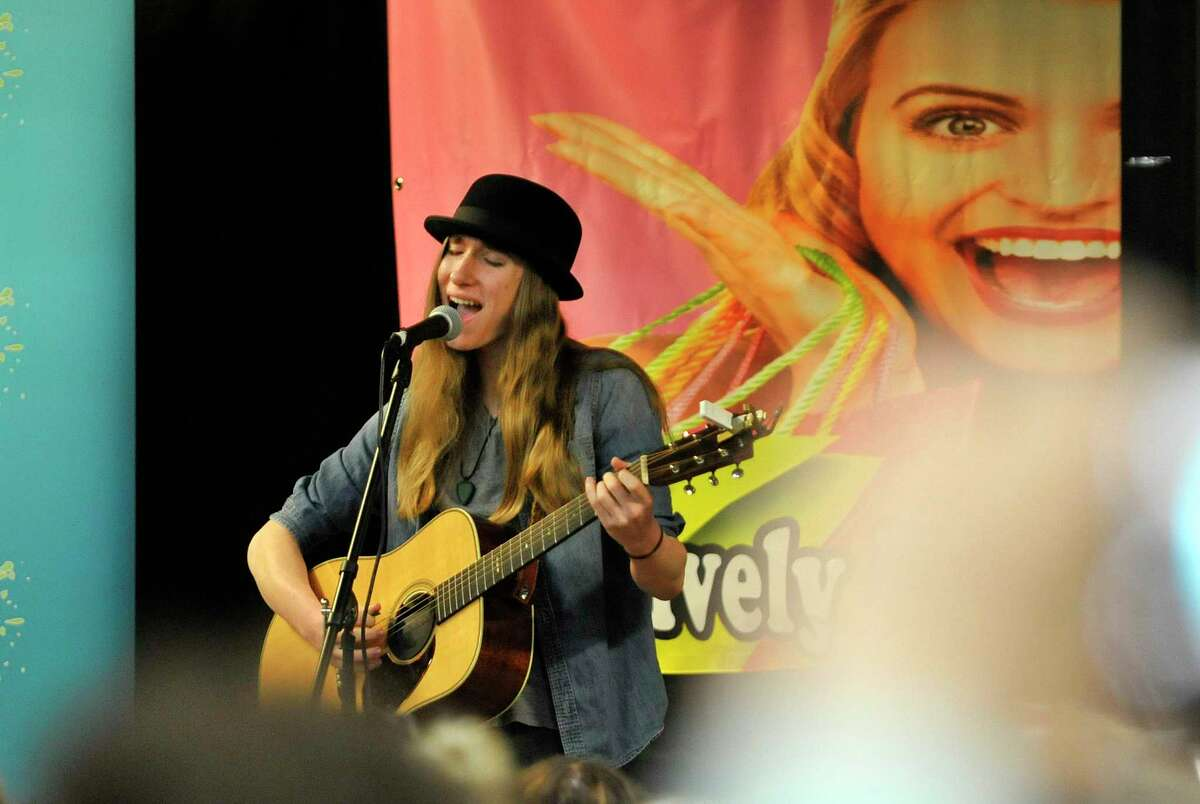 Sawyer Fredericks, winner of the television show, The Voice, performs at the New York Women's Expo at Siena College on Sunday, Feb. 28, 2016, in Loudonville, N.Y. (Paul Buckowski / Times Union)