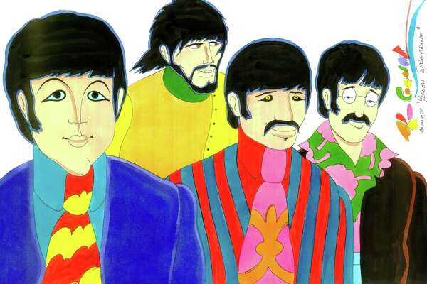 """A Beatles drawing by """"Yellow Submarine"""" animator Ron Campbell"""