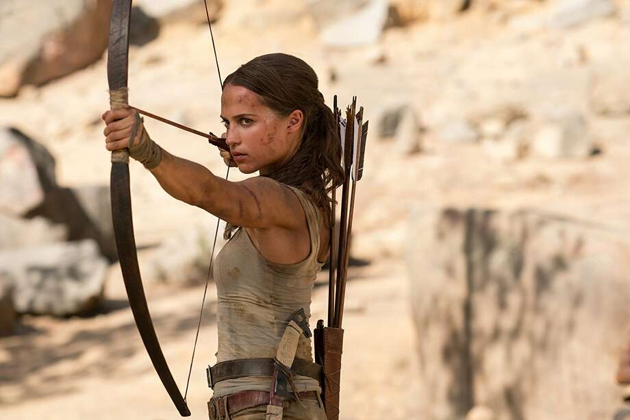 """""""Tomb Raider""""The action franchise based on the video game gets a reboot with Alicia Vikander taking over the Lara Croft role and up-and-coming Norwegian director Roar Uthaug (who made the acclaimed thriller """"The Wave"""" in 2015) getting behind the camera. Walton Goggins, Kristin Scott Thomas and Nick Frost co-star.Playing throughout Houston. Photo: Ilzek Kitshoff"""