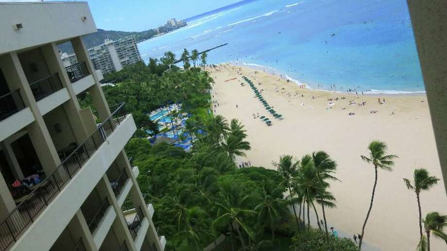 View from the Ali'i Tower at the Hilton Hawaiian Village. (Photo Chris McGinnis)
