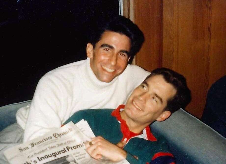 Leno and Jackson enjoy a light moment in 1989, shortly before Jackson died of complications from AIDS. Photo: Handout, Courtesy Mark Leno