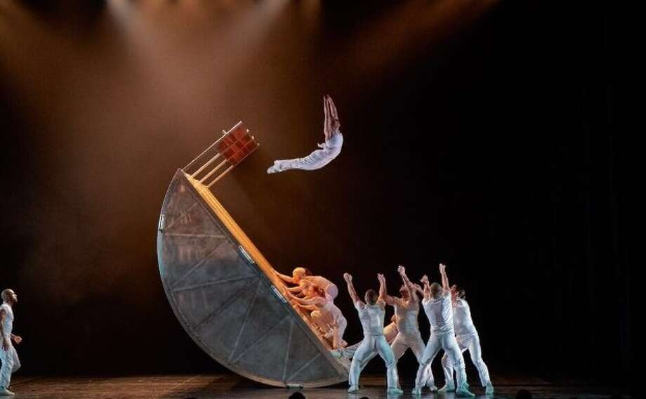 The daredevil dance troup Diavolo performs at 8 p.m. Friday at Miller Outdoor Theatre. Photo: Diavolo