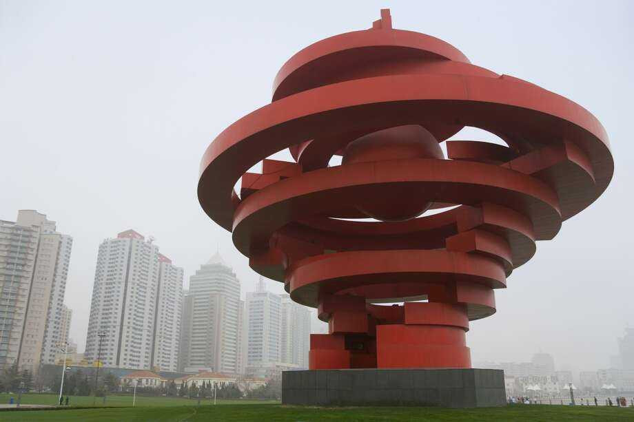 The May Wind sculpture in May 4th Square, Qingdao, China. Photo: Keren Su/Getty Images/China Span RM