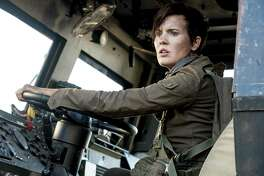 """Maggie Grace of """"Lost"""" stars in season four of """"Fear the Walking Dead"""" as new character Althea, who makes a hell of an entrance in a vehicle that seems to have a San Antonio connection — it's a """"Bexar County"""" SWAT truck with plenty of firepower."""
