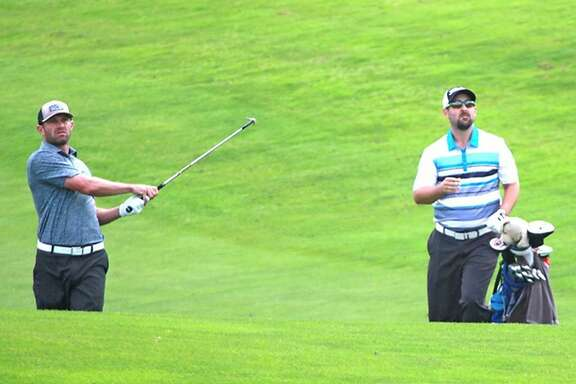 Brett Viboch (left) will play in the quarterfinals of the San Francisco City Championship on Saturday at Harding Park.