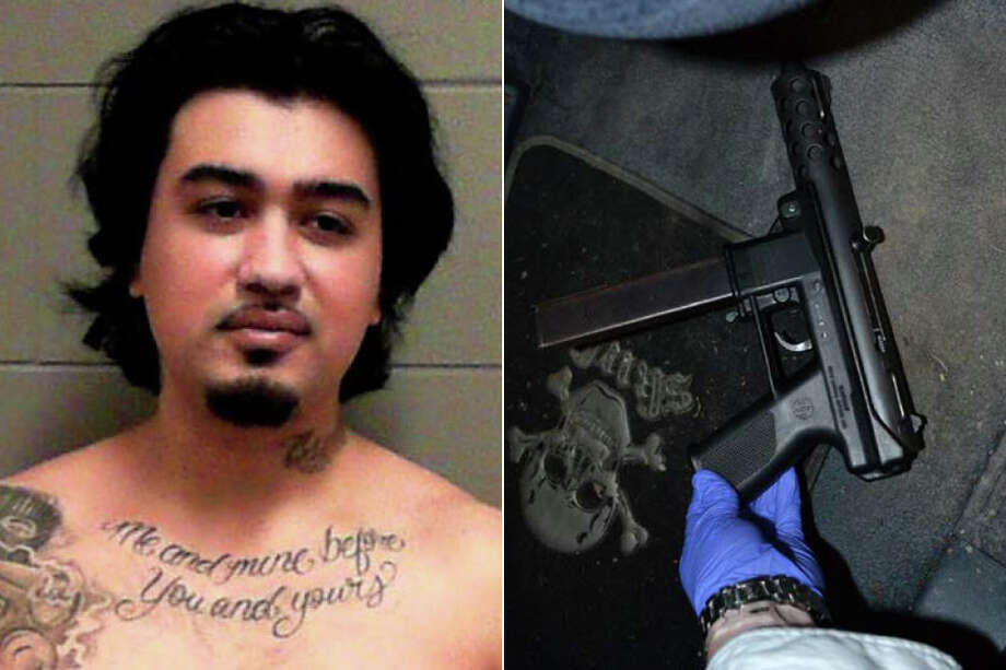 Paul Esparza, 24, was sentenced Tuesday to a four-year term in federal prison for gun crimes. Police found this pistol inside his car during a 2017 encounter. Photo: Department Of Justice