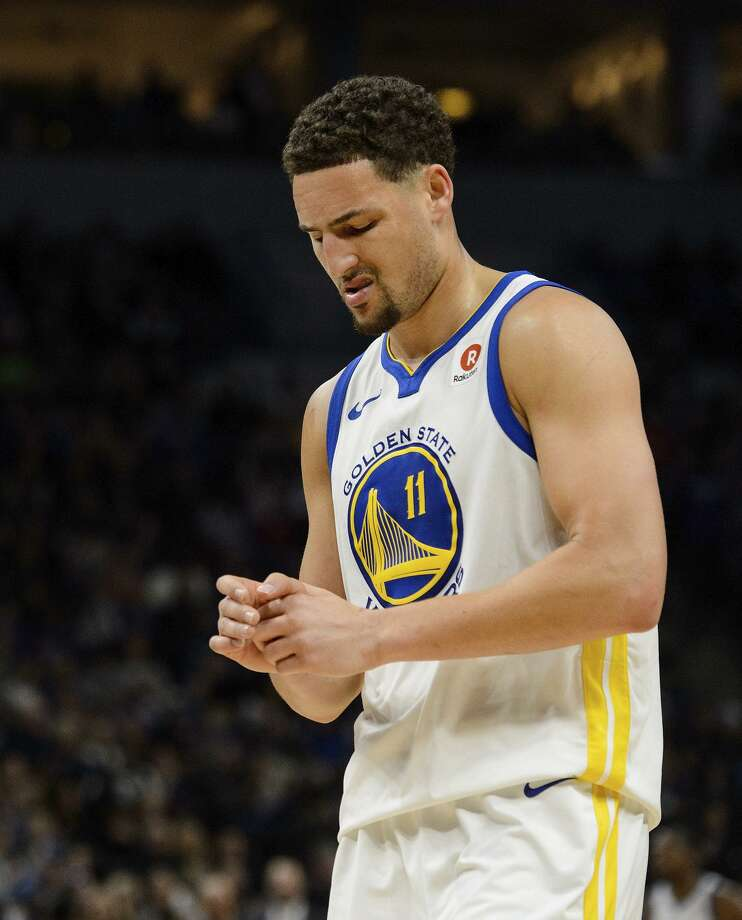 Klay Thompson #11 of the Golden State Warriors looks on during the game against the Minnesota Timberwolves on March 11, 2018 at the Target Center in Minneapolis, Minnesota. Photo: Hannah Foslien / Getty Images / 2018 Hannah Foslien