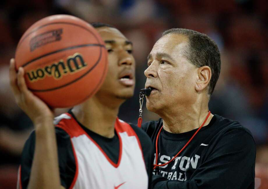 Houston head coach Kelvin Sampson watches practice for an NCAA college basketball first round game Wednesday, March 14, 2018, in Wichita, Kan. (AP Photo/Charlie Riedel) Photo: Charlie Riedel, STF / Copyright 2018 The Associated Press. All rights reserved.