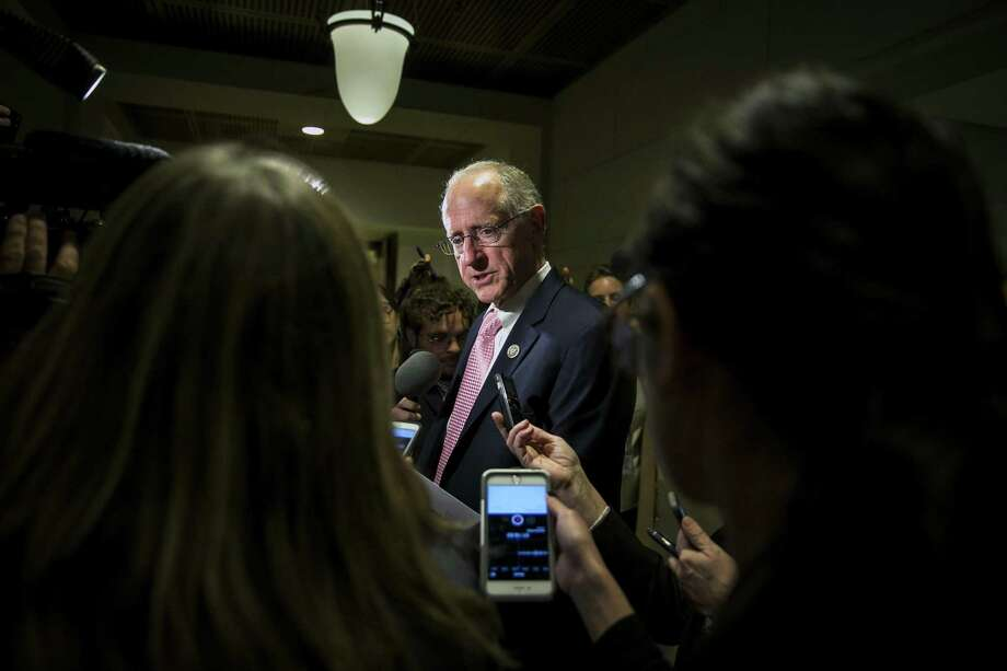 """Rep. Mike Conaway, during a press call Wednesday, said he hopes his colleagues at the Capitol and the president will support the legislative fix. But he told media to not """"lose sight that all this started with parents making really bad decisions.""""Seehow Republicans have reacted to Trump's policy of separating migrant families. Photo: AL DRAGO, STR / NYT / NYTNS"""