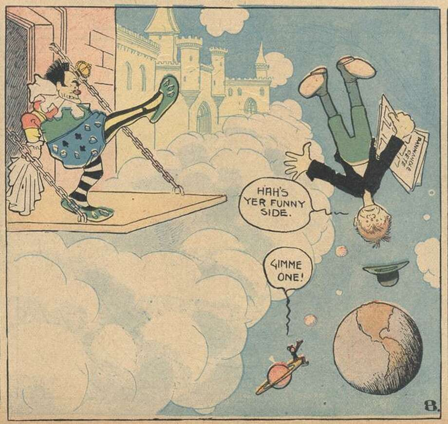 """An old cartoon depicting an Irish-American stereotype of an earlier time from """"The Irish and the Origins of American Popular Culture,"""" a new book by University of New Haven Associate Professor of English Christopher Dowd. The book traces the historical confluence of the unprecedented Irish immigration of the late 1800s and early 1900s and the birth of American popular culture -- and looks at how perceptions of Irish Americans changed. Photo: Contributed / Courtesy Of University Of New Haven /"""