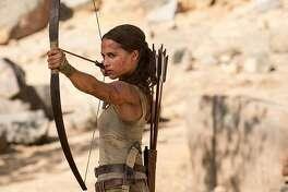 "Alicia Vikander in ""Tomb Raider."" (Warner Bros. Entertainment)"