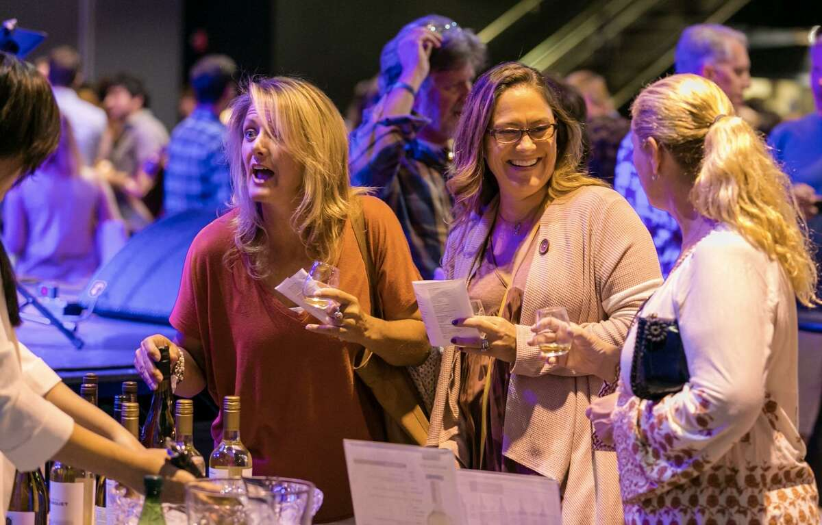 A scene from last year's wine social, also sponsored by GoodWorks Entertainment, at the Warehouse at Fairfield Theatre Company. GWE is hosting a Whiskey Social there on March 24.