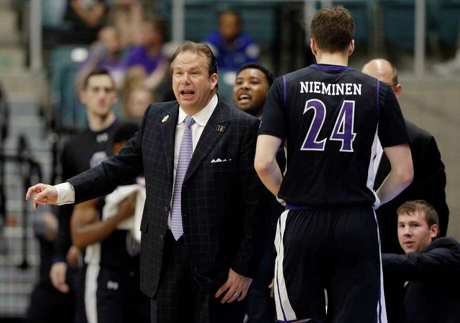 Stephen F. Austin head coach Kyle Keller during the first half of an NCAA college basketball game against Southeastern Louisiana in the Southland Conference's Men's Basketball Tournament Championship Saturday, March 10, 2018, in Houston. (AP Photo/Michael Wyke) Photo: Michael Wyke, FRE / © Associated Press 2017
