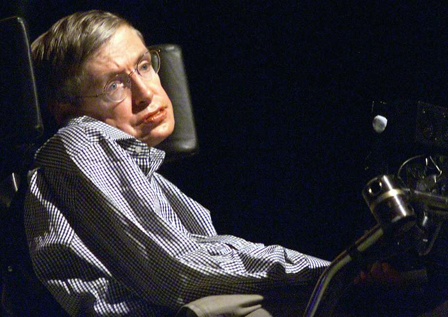 This file picture taken on August 18, 2002 shows Stephen Hawking, the world-renowned physicist, delivering a lecture in Beijing. / AFP PHOTO / --/AFP/Getty Images Photo: -, AFP/Getty Images