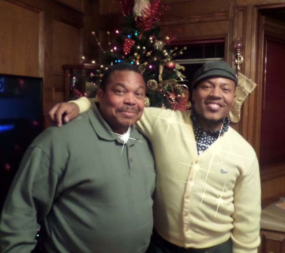 Harry Caligone, Christmas 2013 in LaMarque with his son, Harrison Guy. Photo: Family Photo / Courtesy / Family Photo