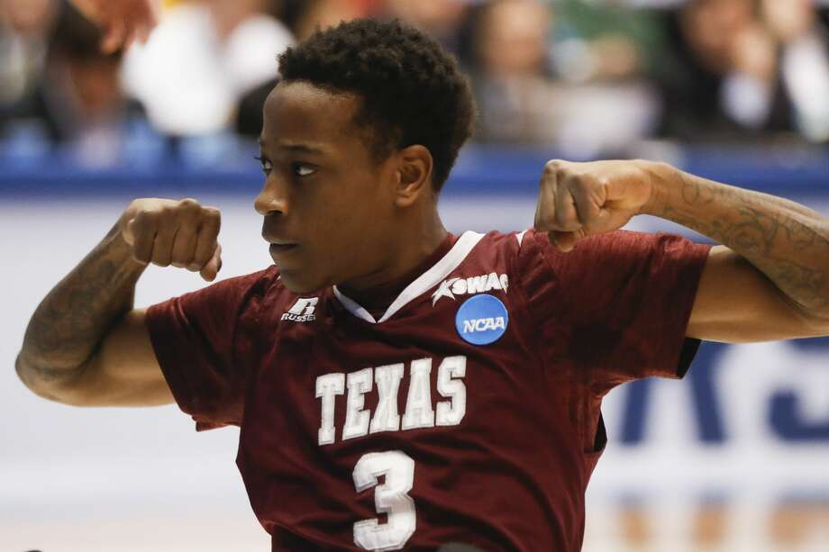PHOTOS: More from TSU's first NCAA Tournament win in school historyTexas Southern's Demontrae Jefferson reacts during the first half of the team's First Four game against North Carolina Central in the NCAA men's college basketball tournament Wednesday, March 14, 2018, in Dayton, Ohio. (AP Photo/John Minchillo) Photo: John Minchillo/Associated Press