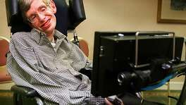 HAWKING 1/C/11APR96/BU/LH--Stephen Hawking, noted physicist from Cambridge University.  Liz Hafalia