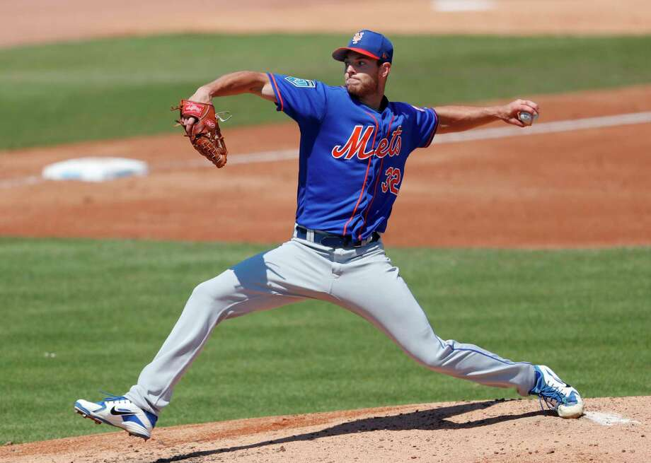 New York Mets starting pitcher Steven Matz (32) works against the Miami Marlins in the third inning of a spring training baseball game Wednesday, March 14, 2018, in Jupiter, Fla. (AP Photo/John Bazemore) Photo: John Bazemore / Copyright 2018 The Associated Press. All rights reserved.