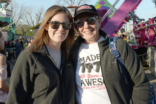 Megan Landry and Sharon Miller were at the Nederland Heritage Festival Wednesday.  The annual event continues through Sunday, March 18. Photo taken Wednesday, March 14, 2018 Kim Brent/The Enterprise