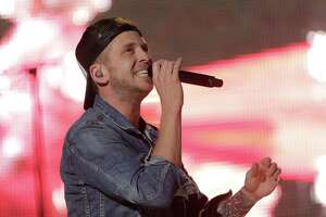 Ryan Tedder, the lead singer of OneRepublic performs with the band during the 2018 Houston Livestock Show and Rodeo at NRG Stadium on  on Wednesday, March 14, 2018, in Houston.