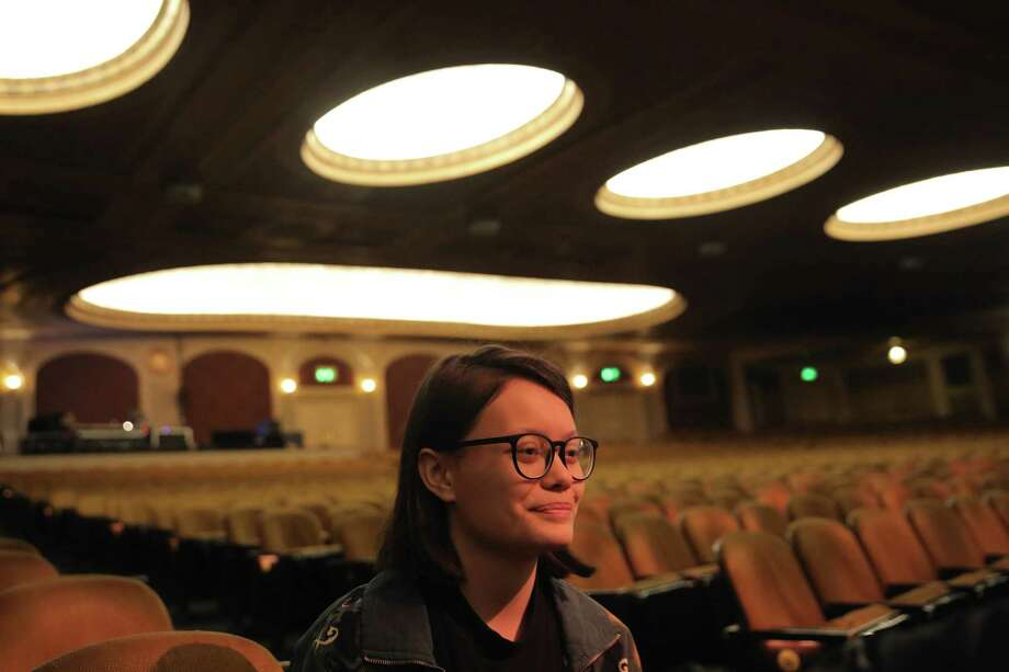 "Namaka Auwae Dekker, a student at Franklin High School, performed a spoken word poem about Joseph Brant befor she and students from 35 Washington and Oregon high schools attended a performance of ""Hamilton"" as part of an education program launched in 2016 that brings kids to see the musical who might not otherwise get to see it, Wednesday, March 14, 2018. Before the matinee showing, select students performed original songs, poems and other spoken word pieces they worked on as part of the ""EduHam"" program. Photo: GENNA MARTIN, SEATTLEPI.COM / SEATTLEPI.COM"