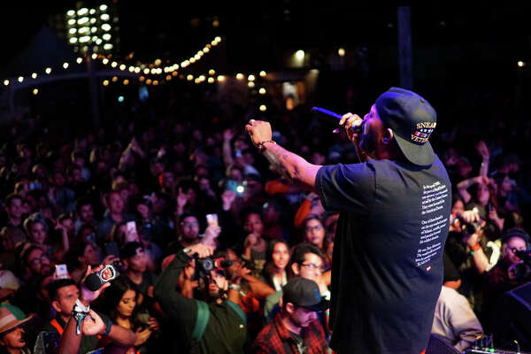 Houston rappers Bun B and Trae Tha Truth headlined Day One of The Fader Fort on March 14th, 2018 in Austin, Texas. (Photo by Marco Torres/Houston Chronicle)