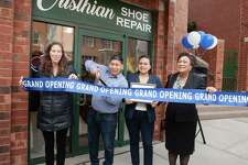 Yale University Properties held a ribbon cutting ceremony Wednesday to welcome Cristhian Shoe Repair to the Whitney-Audubon Retail and Arts District.