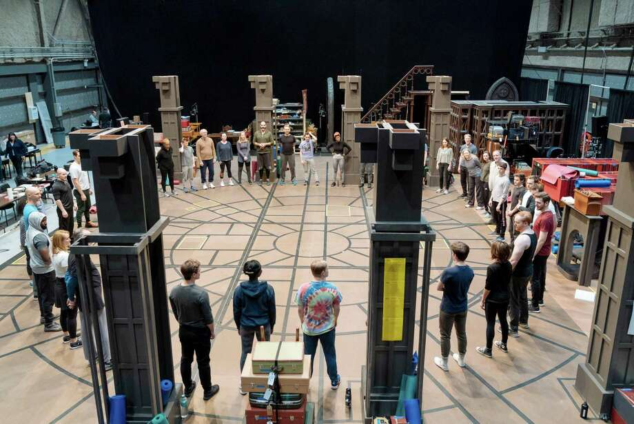 "The New York cast in rehearsal for the Broadway premiere of ""Harry Potter and the Cursed Child."" Photo: Manuel Harlan / Manuel Harlan"