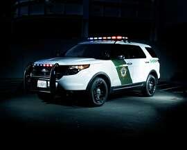 A Marin County Sheriff's Office patrol SUV car