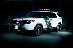A Marin County Sheriff's Office patrol SUV car