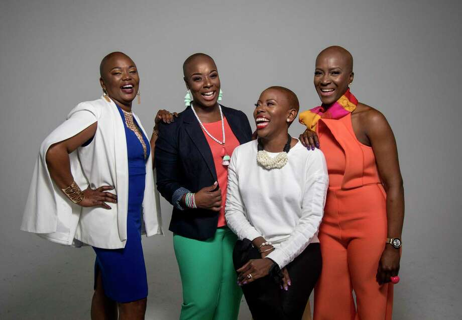 Rhonda Robeaux, from left, Jotina Buck, Hahleemah Wright Ellison and Simone Dobbs are helping redefine the definition of beauty.  Photo: Jon Shapley, Houston Chronicle / © 2018 Houston Chronicle