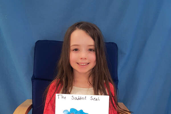 "Midway Elementary School recently announced its top Young Authors competition entries. Pictured is Zoey Greenwood who wrote ""The Saddest Seal"""