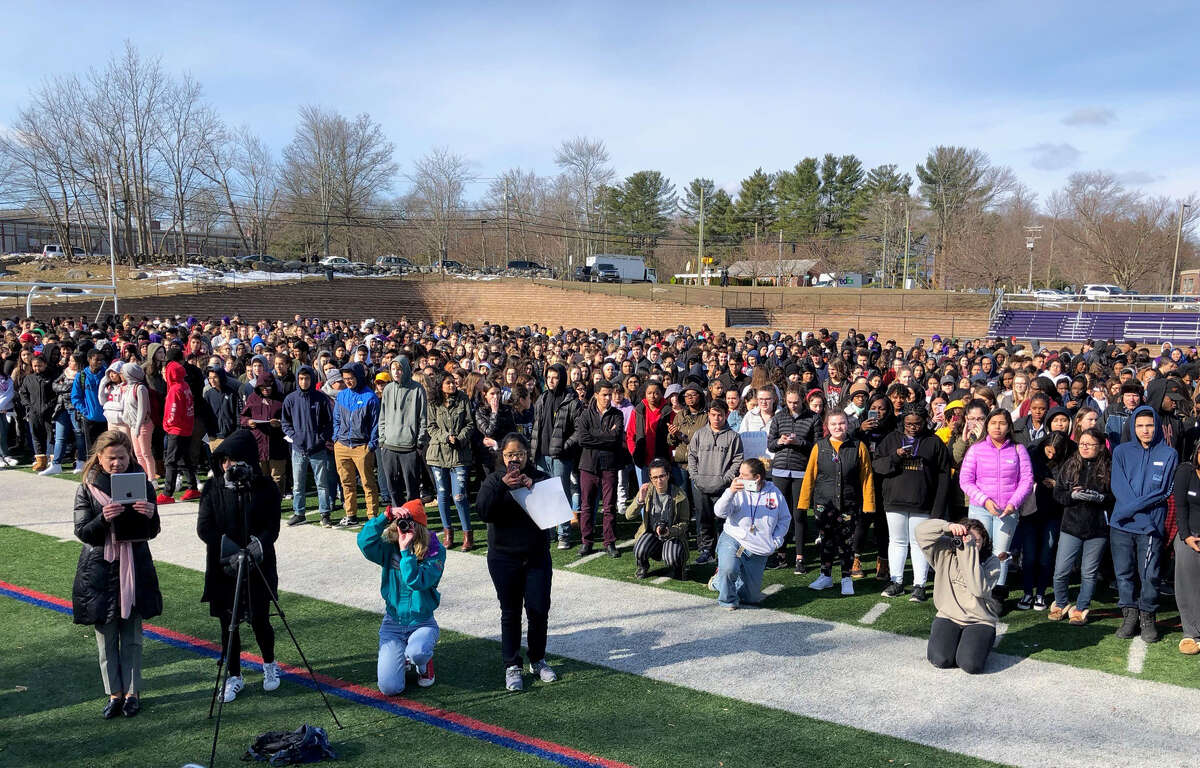 Exactly one month after the shootings, students from Westhill High School participated in a nationwide walkout to recognize the Parkland victims and spark conversation about campus safety, mental health and gun control.